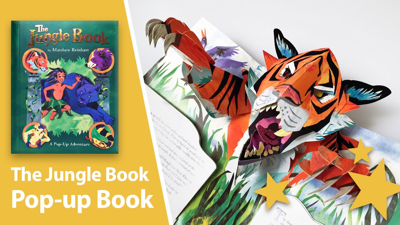 Pop Up Book Cover The Jungle Book A Pop Up Adventure By Matthew Reinhart