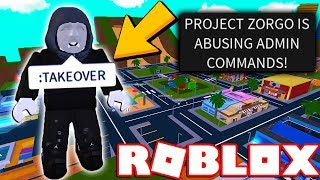 Project Zorgo took over this Roblox Game...