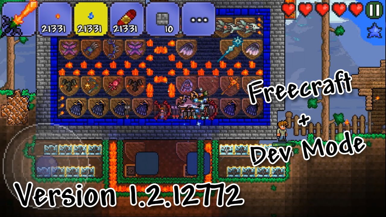 Terraria 1 2 12772 Android Mod 2016 - Dev Mode, Freecraft & MORE!  [DOWNLOAD, NO ROOT]