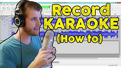 How to Record Vocals for Karaoke | How to Use Audacity