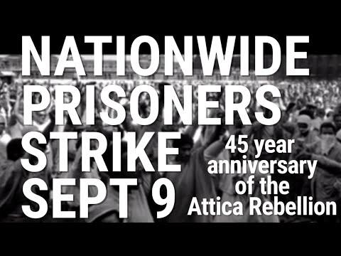 National Prisoners Strike on Anniversary of Attica Rebellion