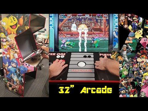 32 Inch DIY MAME Arcade Cabinet Build - Pi Powered