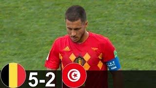 Belgium Vs Tunisia 5 - 2 World Cup ● 23/06/2018