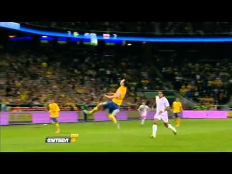 Sweden vs England 4-2 Ibrahimovic AMAZING 30 METERS BICYCLE GOAL!!!