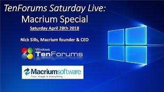 TenForums Live: Macrium CEO tells about Macrium Reflect