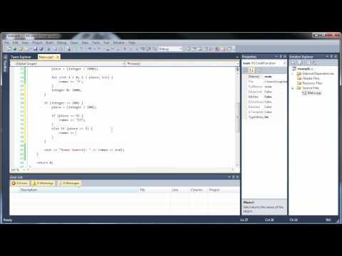 C++ Project 2 - Convert Integers to Roman Numerals
