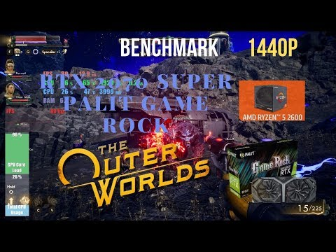 The Outer Worlds RTX 2070 Super Palit Game Rock Benchmark  Ryzen 2600 1440p |