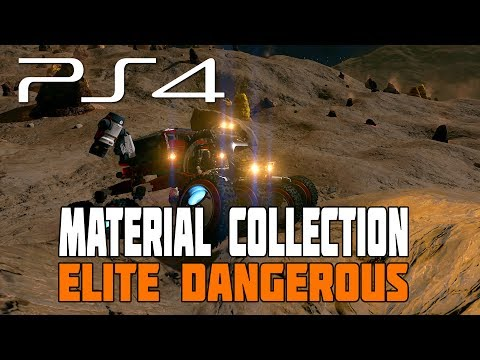 Elite Dangerous - Collecting Surface Material (Driving the SRV) - PS4