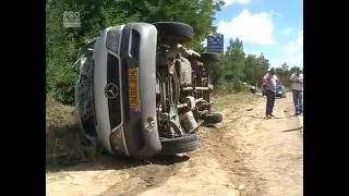 Filmul teribilului accident care a avut loc azi la intrarea in capitala