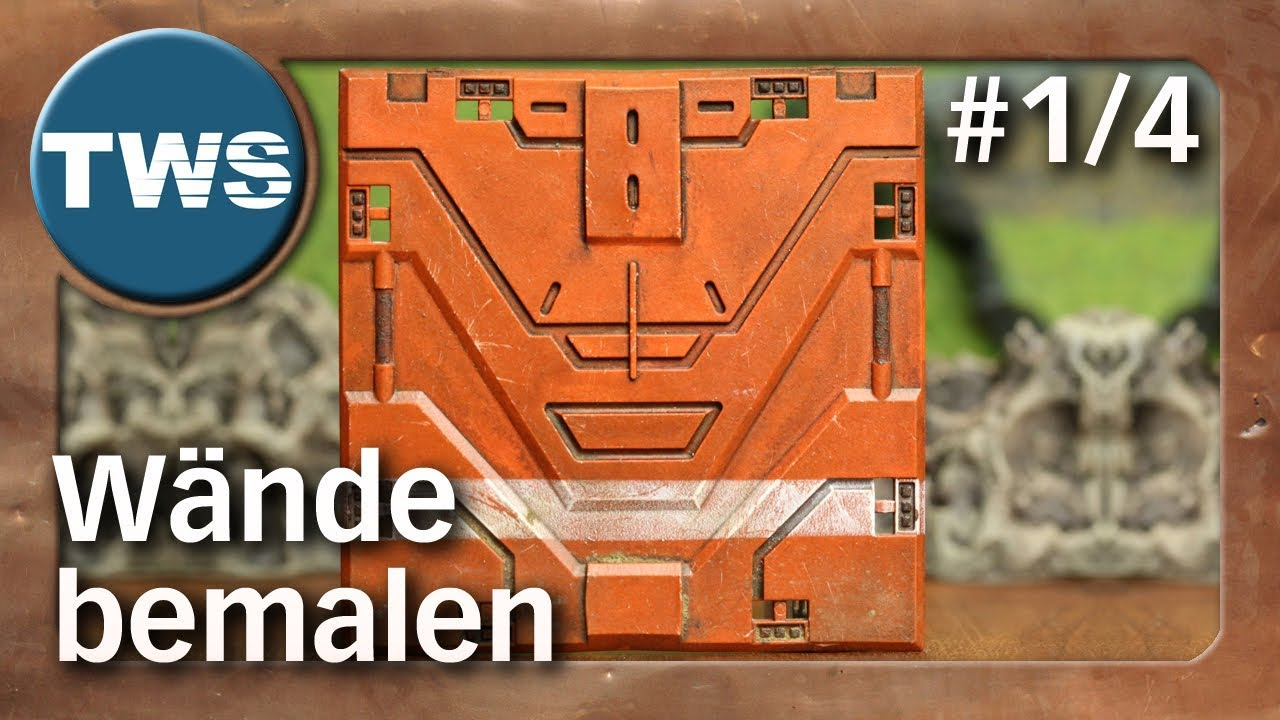 Wand Orange Wischtechnik Tutorial Wände Bemalen 1 4 How To Paint Walls Tabletop Gelände Tws