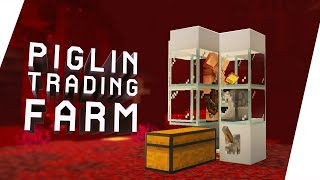Cara Membuat Piglin Trading Farm - Minecraft Tutorial Indonesia