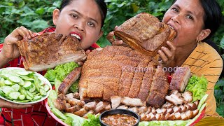 Cooking Crispy Pork Belly Recipe for Eating with Tamarind Sauce Fried Rice Powder  Donation Foods