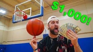 SURPRISE $1,000 BASKETBALL TRICK SHOT CHALLENGE!