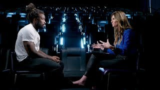 Dalvin Cook sits with Erin Andrews before Thursday Night Football