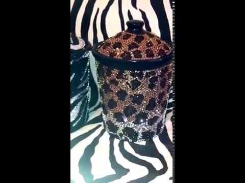 Poshlifebling Com Crystal Kitchen Home Decor Zebra Leopard Print Canisters Jars