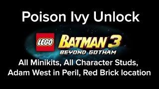 LEGO Batman 3 Poison Ivy Unlocking location Hall of Justice