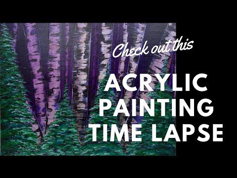 Acrylic Painting Time Lapse  Violet Night