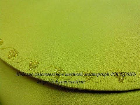 Совмещение машинной и ручной вышивки на изделии