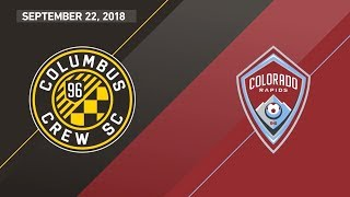 HIGHLIGHTS: Columbus Crew SC vs. Colorado Rapids | September 22, 2018