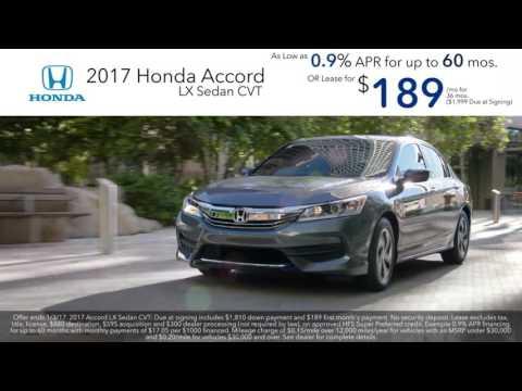 Honda 0% APR! 2017 Honda Accord 2016 CR-V Leases! Used Cars & Service Washington DC Honda Dealer MD