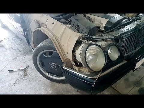 How to remove the front fender on a Mercedes W210 / Mercedes W210 Front  Wing Removal and Replacement