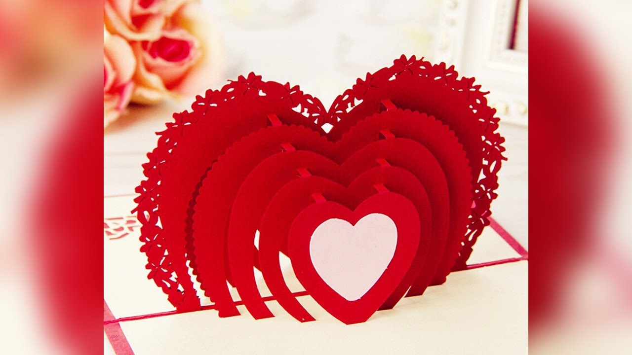 Best 3D Happy Valentines Day Card for Your Wife – Valentine Day Cards for Wife