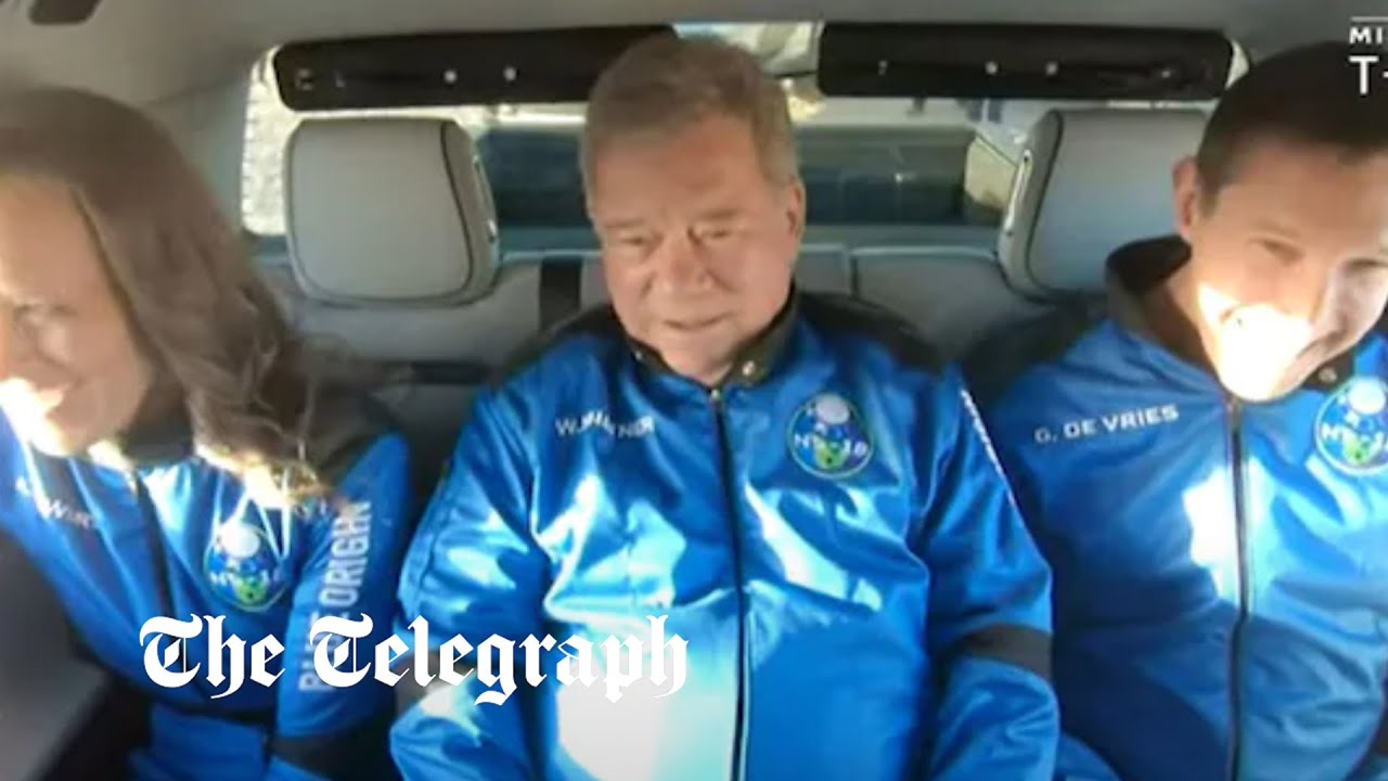 William Shatner, of 'Star Trek' fame, is back from space after Blue ...