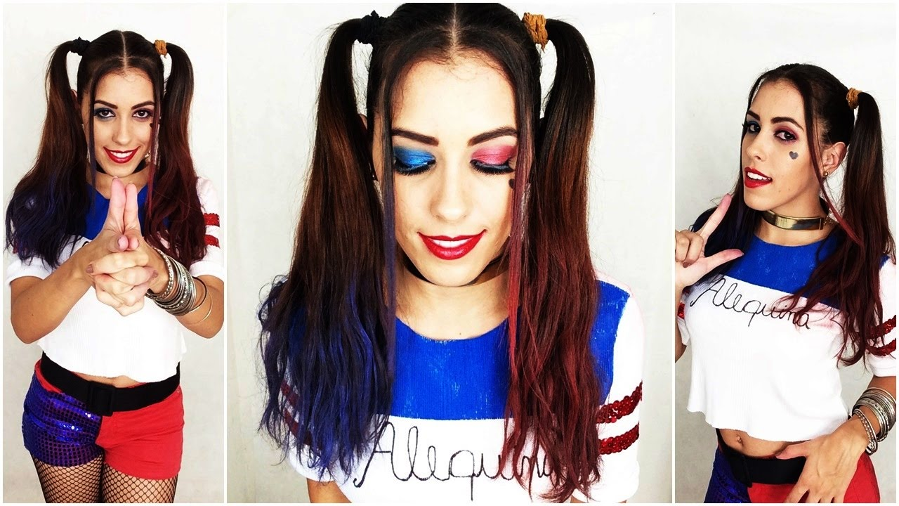 5328047a3 HARLEY QUINN MAKEUP - Maquiagem Arlequina - Suicide Squad Tutorial - YouTube