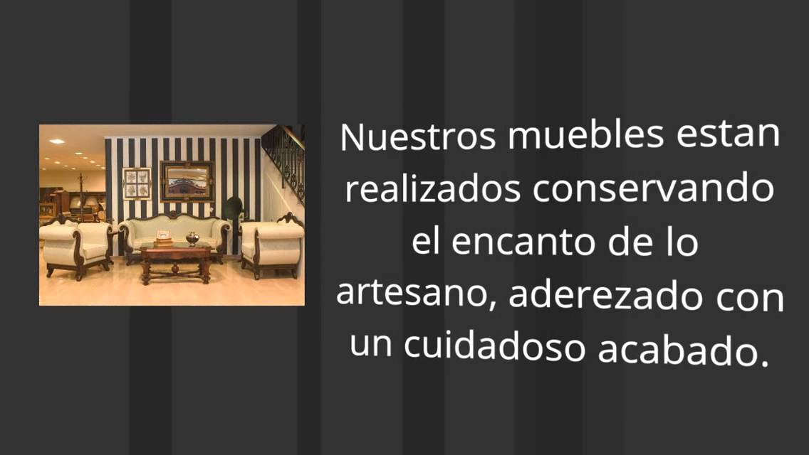 R plicas de muebles antiguos en lucena youtube for Muebles clasicos en lucena