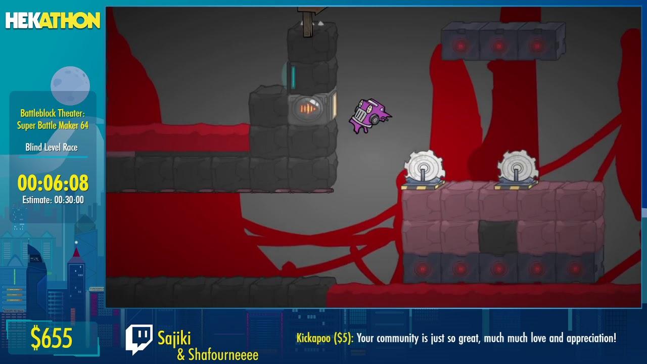 Battleblock Theater: Super Battle Maker 64 [Blind Level Race] by Sajiki and Shafournee - #HEK20