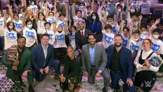 WWE Superstars host the first ever Be a Star rally in Riyadh