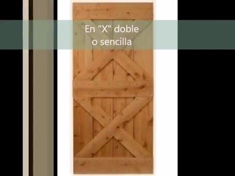 Puertas tipo granero modelos herraje y fabricantes for Puerta granero madera