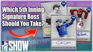 Which 5th Inning Program Boss Should You Take? Crazy New Cards! MLB The Show 19 Diamond Dynasty