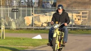 Matchless 1913 model 7,  770cc  2 speed. Test run in freezing cold
