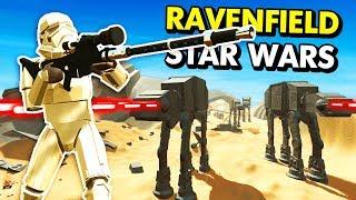 STAR WARS BATTLE OF JAKKU IN RAVENFIELD (Ravenfield Funny Gameplay)