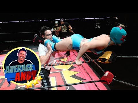 'Average Andy' with Lucha VaVOOM