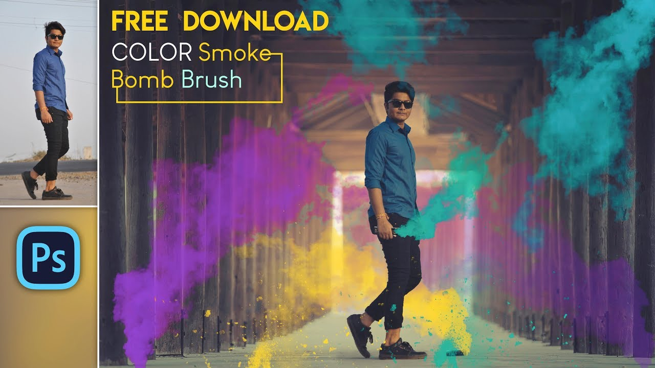 Color Smoke Bomb Explosion Effect | Free Download Smoke Bomb Brush | Photo  Editing in Photoshop