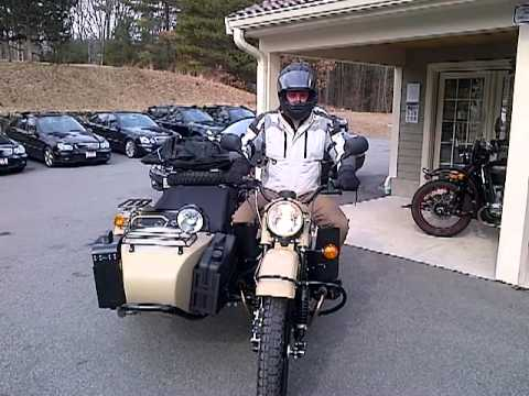 Jesse picking up his Ural Gear Up Sahara today