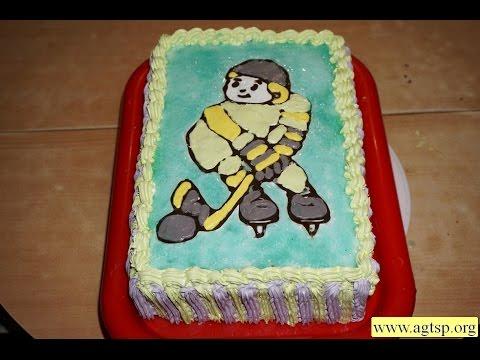 Торт «Юный хоккеист»