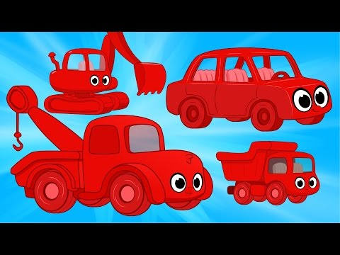 Thumbnail: Morphle Vehicle Super Compilation - cars trucks and other excavators for kids