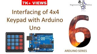 Interfacing of 4x4 Keypad with Arduino Uno