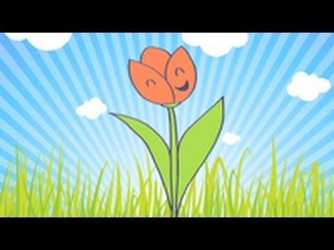 Cómo dibujar un tulipan - YouTube
