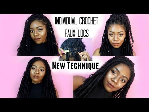 Individual Crochet Faux Locs Tutorial | #JazzNicoleMethod! NO CORNROWS! Goddess Locs | Talk through