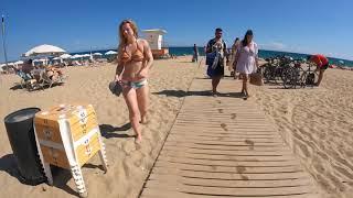 4K WALKING Bogatell BEACH BARCELONA SPAIN HOT SEPTEMBER 2021 The Beach Is Open 2021…