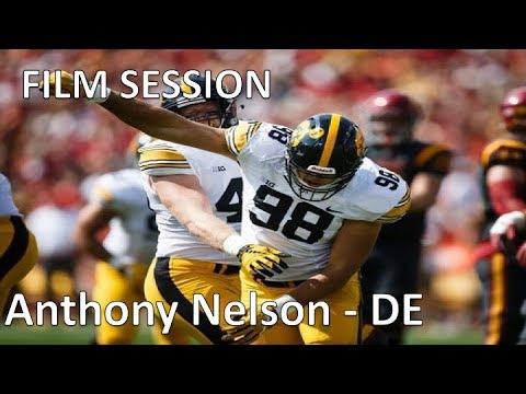 new concept 80332 ca15f Anthony Nelson (Iowa) FILM SESSION (DE) || 2019 NFL Draft