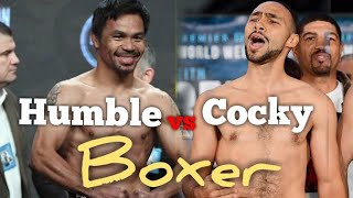 Humble boxer vs Cocky boxer..before and after the fight