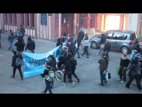 Manif à Nantes contre le résultat des élections (1er tour)