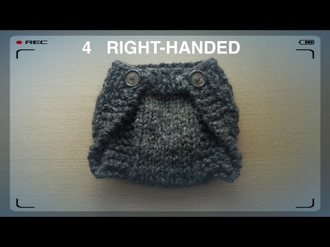 WATCH How To Knit EASY Diaper Cover (4 Righties)