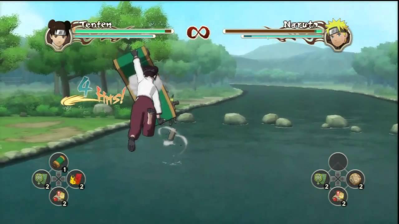 Naruto Shippuden Ultimate Ninja Storm 2 - Tenten - Combos / Ougi / Awakening