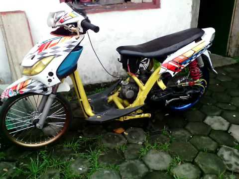 Modifikasi Mio Sporty 2010 Terkeren Airbrush Body Potong Mesin